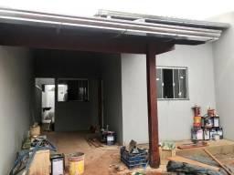 Casa em fase de acabamento no bairro Arco-íris