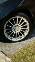 . Troco Jogo com 4 rodas Aro 17 multifuros 4 X 100 e 4 X 108 com pneus novos