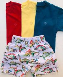 Short e camisa infantil NOVO