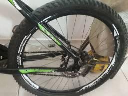 Bicicleta Alfameq Stroll Vbrake 21 Marchas - Preta Com Verde