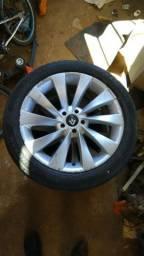 Jogo de roda aro 17 furação 5 x 100 c/ pneus 205 50 17