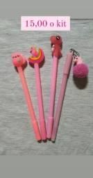 Kits de canetas divertidas na promoção