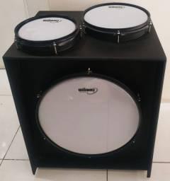 "Cajon Bateria Drum Box - caixa de 8"" ton de 10"" um super Bumbo de 16"""