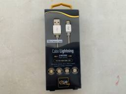 Cabo Lightning para iPhone iPad iPod Nylon 2M I2GO Pró