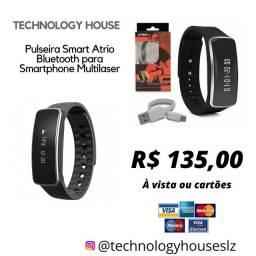 Pulseira Smart Atrio Bluetooth para Smartphone Multilaser - Es175<br><br>
