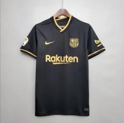 Camisa de time do Barcelona preta