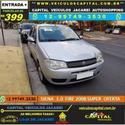 Siena 2008 parcelas de 399 reais ao mês 1.0 Fire Flex
