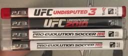 Troco 4 jogos de PlayStation 3 (preferência pelos 4 juntos)