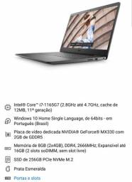 Notebook DELL i7