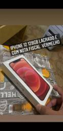 iPhone 12 128gb com nota fiscal lacrado.