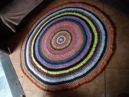 Tapete Crochê Mandala Colorido 1,5 m