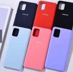 Capa Case Capinha Lisa de Silicone Rígido Aveludada Samsung Galaxy A71