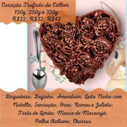 Corações Lapidados de Chocolate