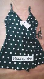 Macaquinho Poá Transpassado Love Dress to Tam. P