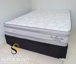 Conjunto Cama Box New Harmony Pelmex Casal 138x188 Dublo Pillow