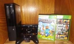 Xbox 360 original 2 controles + kinect e 12 jogos originais.
