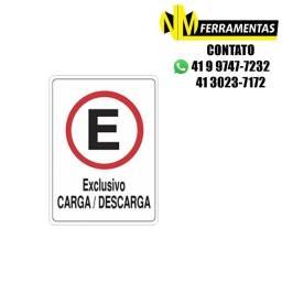 Título do anúncio: Placa Advertência Estacionamento Carga/descarga Unidade