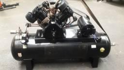 Compressor schulz bravo industrial de 60 pés com motor de 15cv