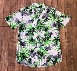 Camisas de botão floridas