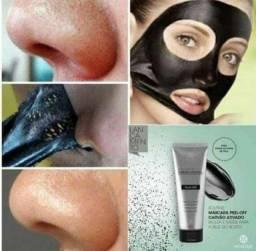 Mascara de carvão ativado removedora de cravos e pontos pretos no rosto