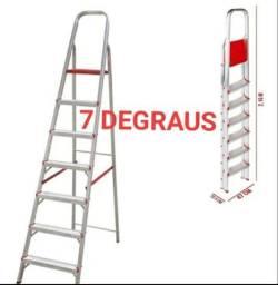 ESCADA ALUMÍNIO 5 E 7 DEGRAUS