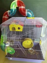 Hamister com gaiola