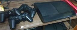 PS3 3 Controles 500 GB 100 Jogos PSN