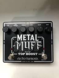 Pedal Electro Harmonix Metal Muff With Top Boost