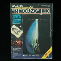 Álbum de figurinhas O Retorno de Jedi - 1983 - incompleto