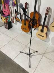 Kit: microfone+cabo+pedestal+ cachimbo