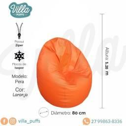 Título do anúncio: Pufe Pêra laranja para área de descanso em sua empresa