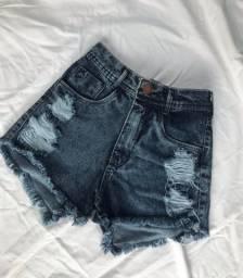 Bermuda jeans cintura alta 34