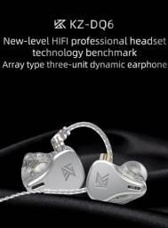 Fone KZ DQ6 *Lançamento* In Ear/Retorno de Palco - 6 Drivers + Case - Novo/Lacrado