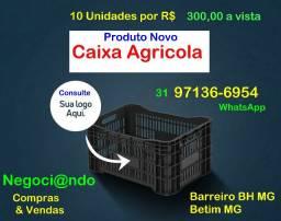 10 Caixas Plástica Agricola-Nova-Consulte Entrega- Betim MG- Casa Oficina Construção