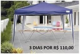 Aluguel de Tenda Sanfonada 3mx3m x 3 diárias por 110,00