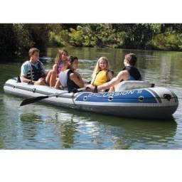 Barco Bote Inflável Excursion 5 - Intex - Remos e Bomba