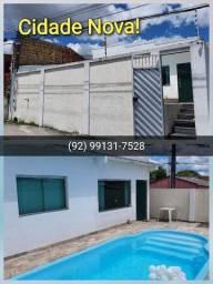 Casa top p/ Locação! 3 qts + piscina+ 2 vgas Cobertas! Leia!
