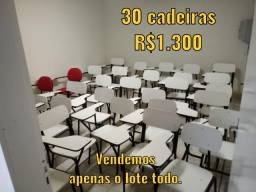 Cadeiras e Lousas Brancas Escolares