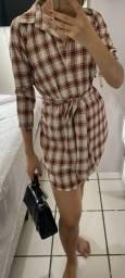 Vestido quadriculado