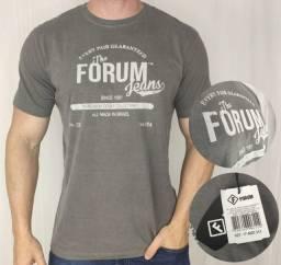 Camiseta Forum Old School Cinza Dourado G