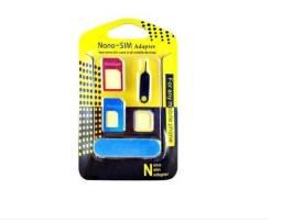 Adaptador 3x1 Nano Chip, Mini, Micro Sim Card Com Chave