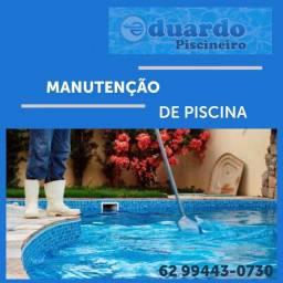 Manutenção de piscinas e limpeza