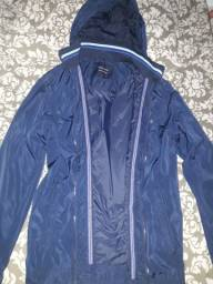Jaqueta lisa azul marinho