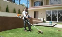 Jardineiro - poda e corte de árvores e grama pequeno, médio e grande porte