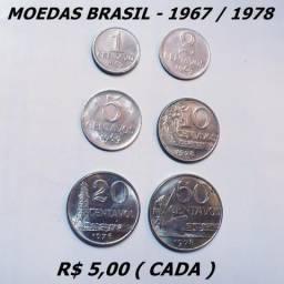 Moeda Antiga Brasil Espanha Italia Japao etc Vejam Fotos a partir de 5 reais cada