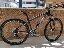 Bicicleta Sense rock preta/laranja, aro 29, tam17