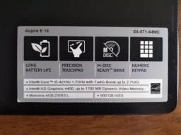 Not book Acer i5 - 4210U