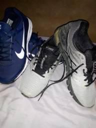 Nike+um aasics avaliados em mais de