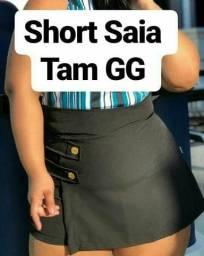 Short saia plus size