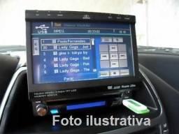 DVD automotivo H-Buster retratil + tela extra + câmera de ré